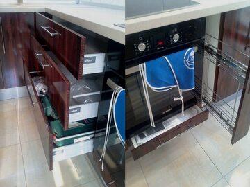 Угловая кухня из пластика Есения