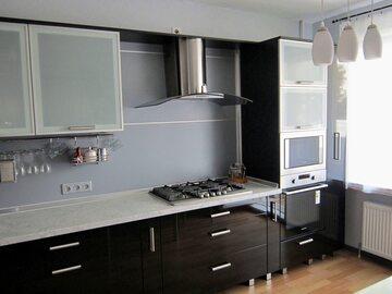 Кухня из крашенного МДФ Блэк
