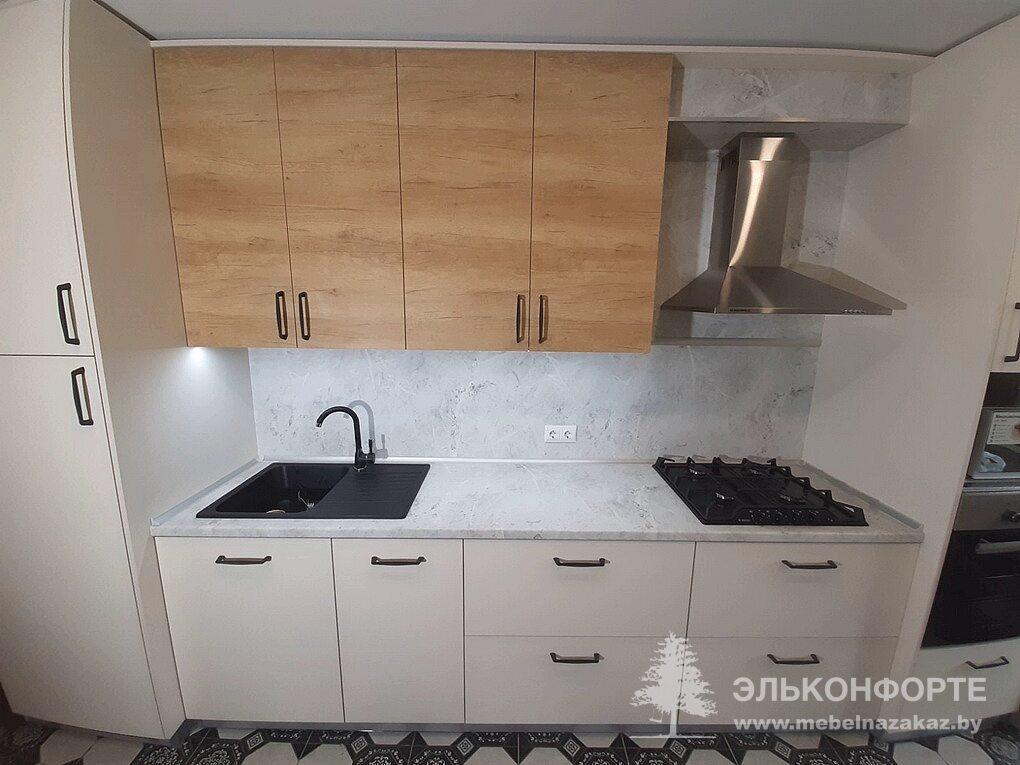 Прямая кухня из ЛДСП Окси