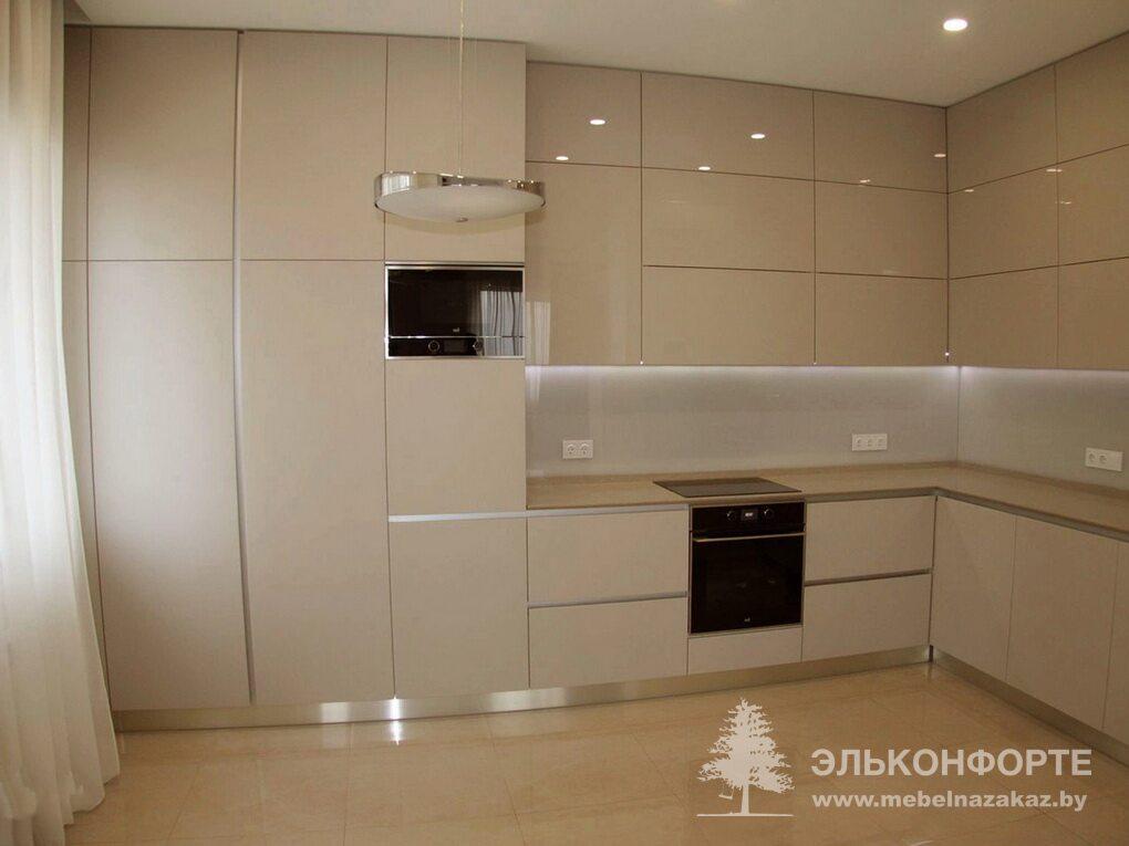 Угловая кухня из пластика Милена